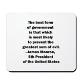 U.s navy james monroe Mouse Pads