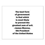 James Monroe Quotation Small Poster