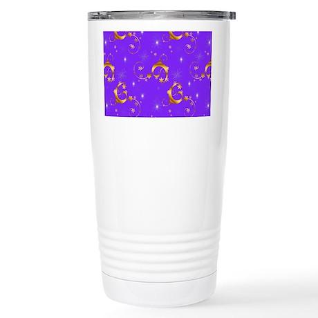 Gold and Purple Christmas Mugs