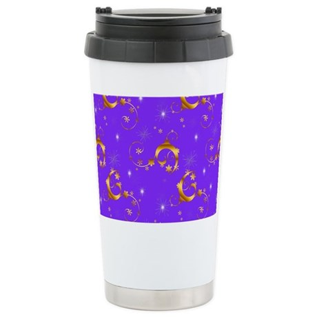 Gold and Purple Christmas Mugs