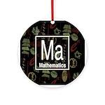Mathematics Retro Ornament (Round)