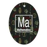 Mathematics Retro Oval Ornament