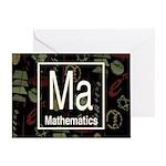 Mathematics Retro Greeting Card