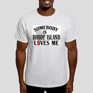 Somebody In Rhode Island Ash Grey T-Shirt