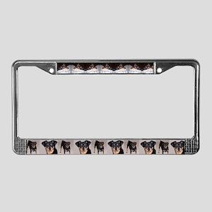 Min Pin License Plate Frame