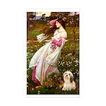 Windflowers / Lhasa Apso #4 Sticker (Rectangle)
