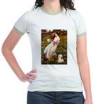 Windflowers / Lhasa Apso #4 Jr. Ringer T-Shirt