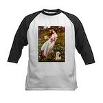 Windflowers / Lhasa Apso #4 Kids Baseball Jersey