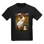 Windflowers / Lhasa Apso #4 Kids Dark T-Shirt