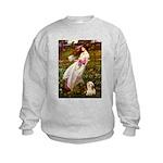 Windflowers / Lhasa Apso #4 Kids Sweatshirt