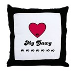 LOVE MY DAWG Throw Pillow