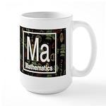 Mathematics Retro Dark Large Mug