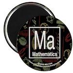 Mathematics Retro Magnet