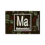 Mathematics Retro Rectangle Magnet