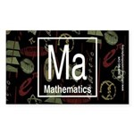 Mathematics Retro Rectangle Sticker 50 pk)