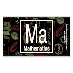 Mathematics Retro Rectangle Sticker 10 pk)