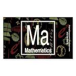 Mathematics Retro Rectangle Sticker