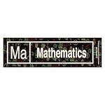 Mathematics Retro Bumper Sticker (50 pk)