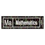Mathematics Retro Bumper Sticker (10 pk)