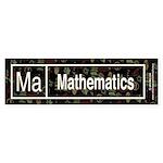 Mathematics Retro Bumper Sticker