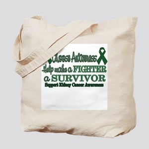 Fighters and Survivors Kidney Tote Bag