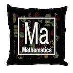 Mathematics Retro Throw Pillow