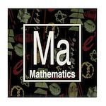 Mathematics Retro Tile Coaster