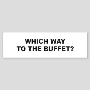 Buffet Bumper Sticker