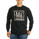 Mathematics Retro Long Sleeve Dark T-Shirt