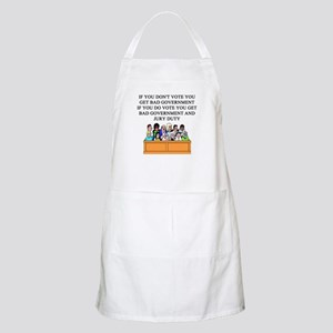 voter government jury duty BBQ Apron