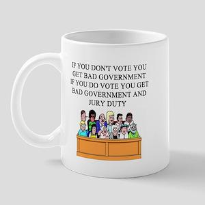 voter government jury duty Mug
