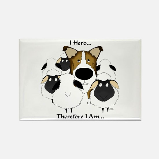 Smooth Collie - I Herd... Rectangle Magnet