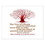 Jefferson's Tree of Liberty Small Poster