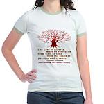 Jefferson's Tree of Liberty Jr. Ringer T-Shirt