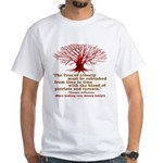 Jefferson's Tree of Liberty White T-Shirt