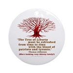 Jefferson's Tree of Liberty Ornament (Round)