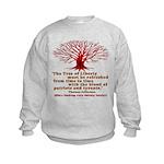 Jefferson's Tree of Liberty Kids Sweatshirt