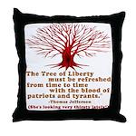 Jefferson's Tree of Liberty Throw Pillow