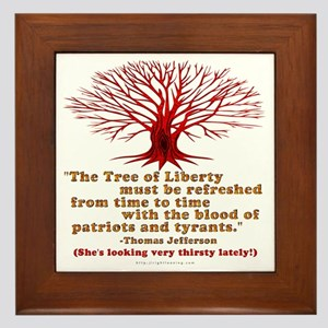 Jefferson's Tree of Liberty Framed Tile