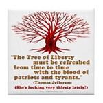 Jefferson's Tree of Liberty Tile Coaster