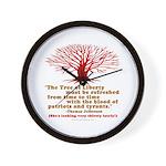 Jefferson's Tree of Liberty Wall Clock
