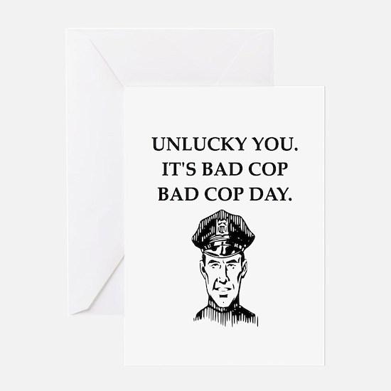 good cop police Greeting Card