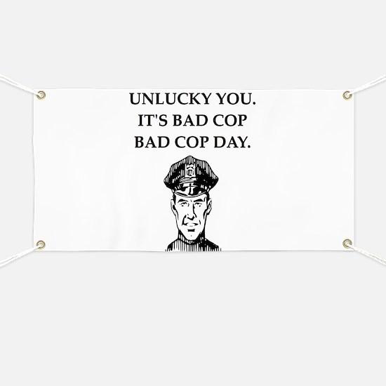 good cop police Banner