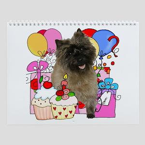 Cairn Terrier Party Wall Calendar