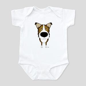 Big Nose Smooth Collie Infant Bodysuit