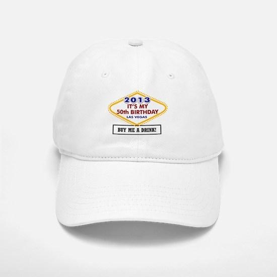 50th Vegas Birthday Baseball Baseball Cap