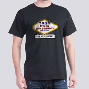 50th Vegas Birthday Dark T-Shirt