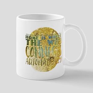 home is where the wifi home is where the wif Mugs