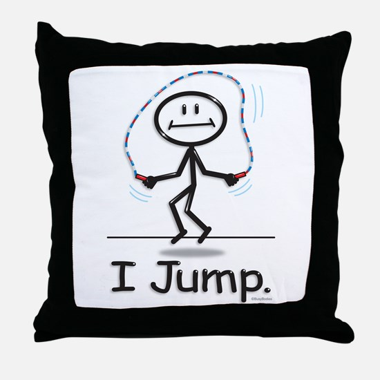 BusyBodies Jump Roping Throw Pillow