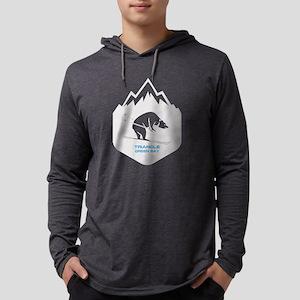Triangle Sports Area - Green Long Sleeve T-Shirt